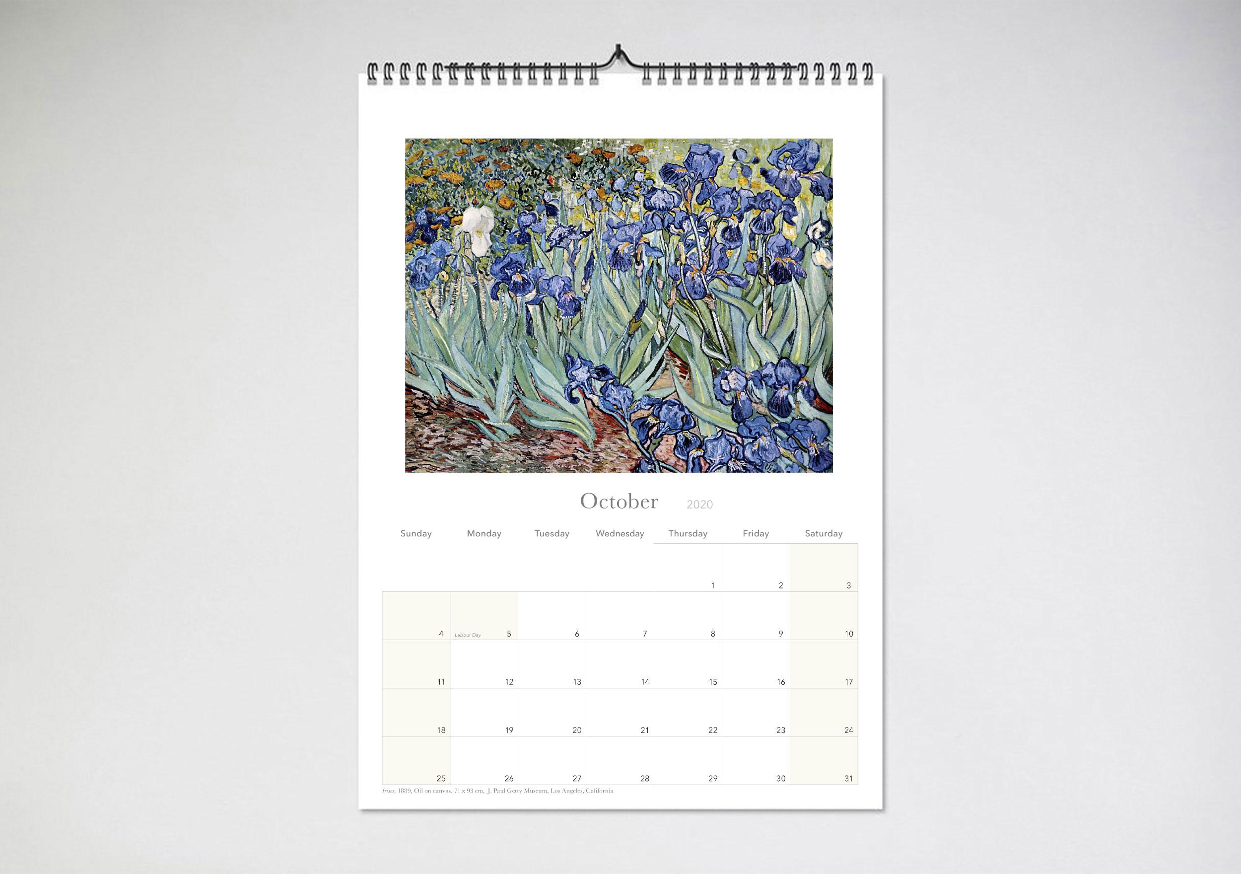 Vincent Van Gogh 2020 Wall Calendar Login Or Register For Wholesale Prices