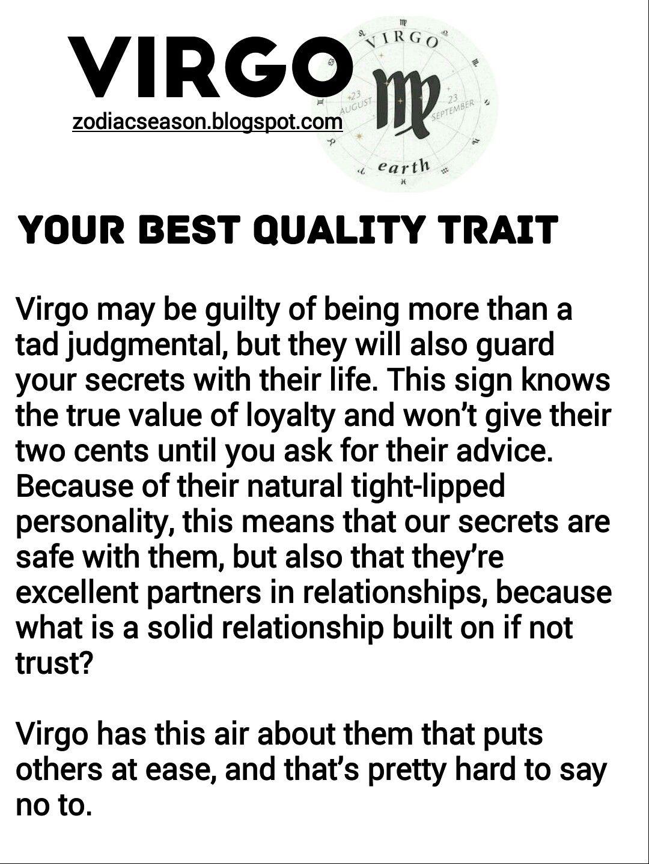 Virgo Best Quality Trait | Virgo Personality, Virgo Quotes