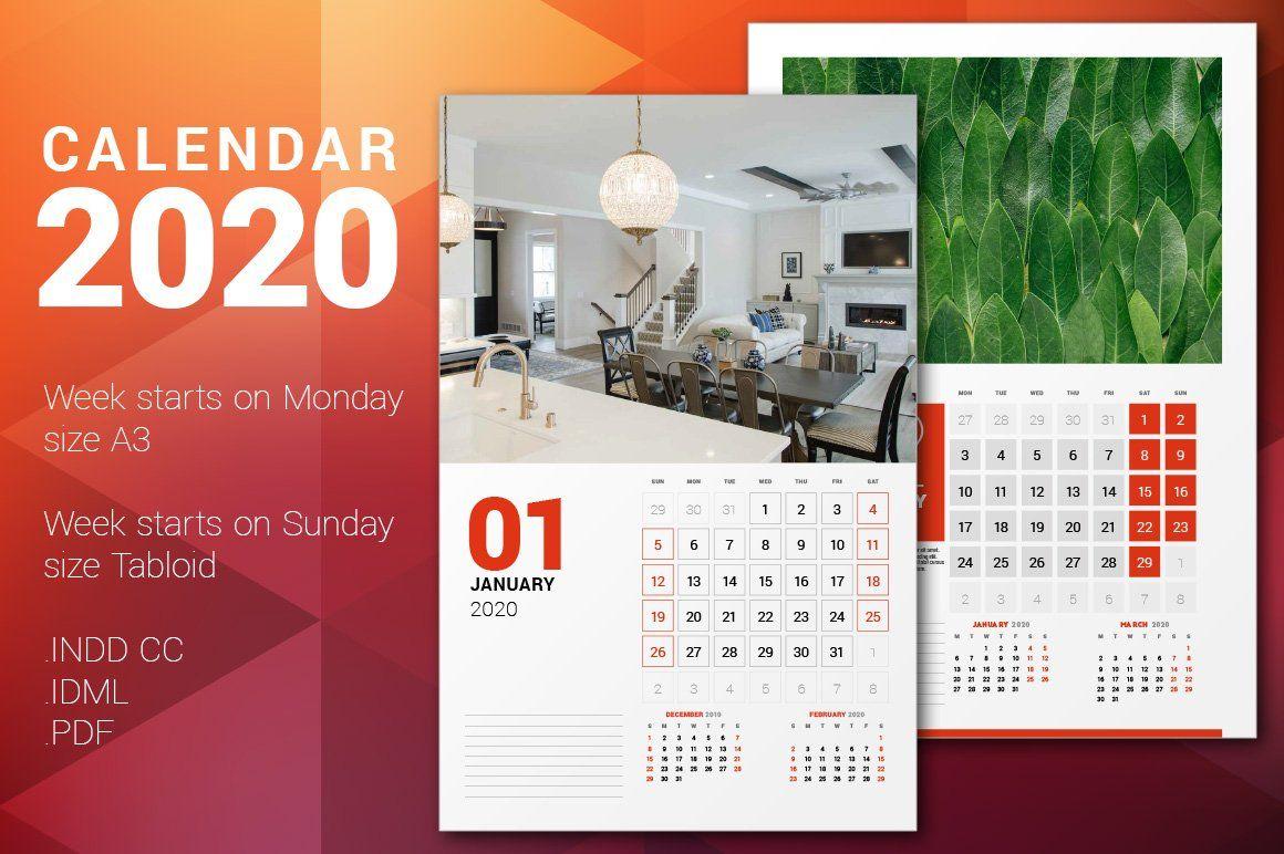 Wall Calendar 2020 Calendar Poster , #affiliate, #calendar