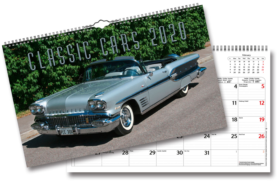Wall Calendar Classic Cars 2020