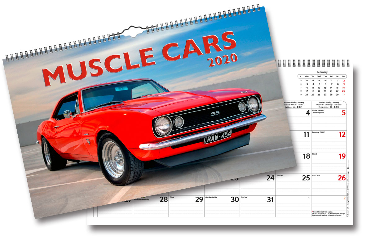 Wall Calendar Muscle Cars 2020