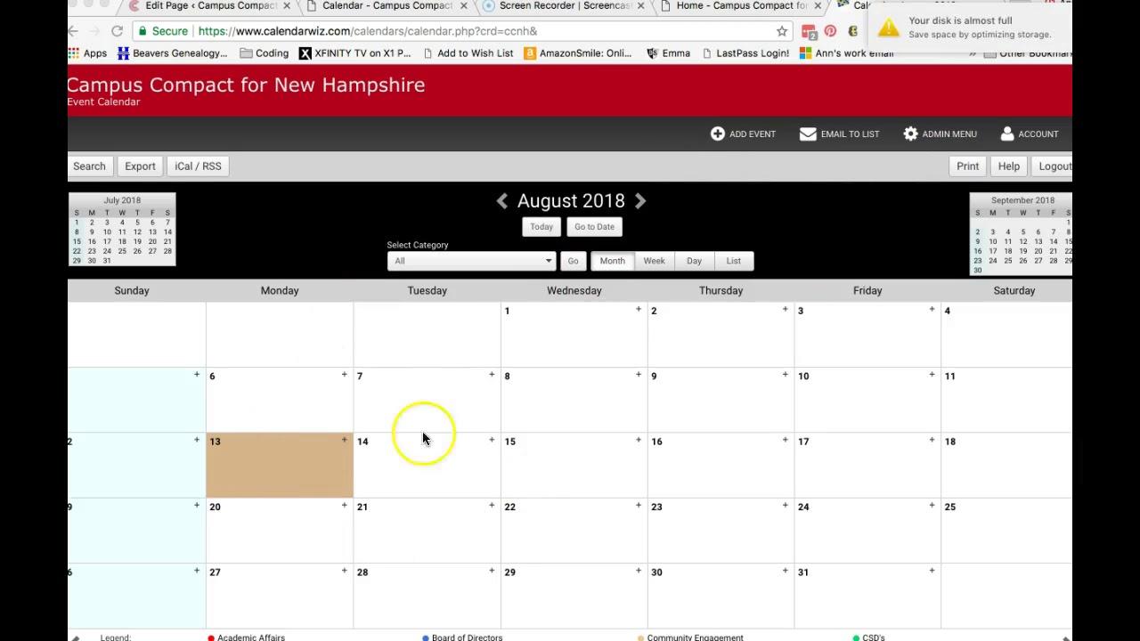 Website Tutorial: Calendar & Embedding Html Code