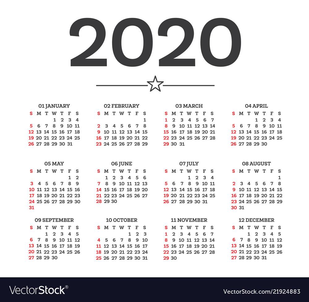 Week Calendar For 2020 - Teke.wpart.co