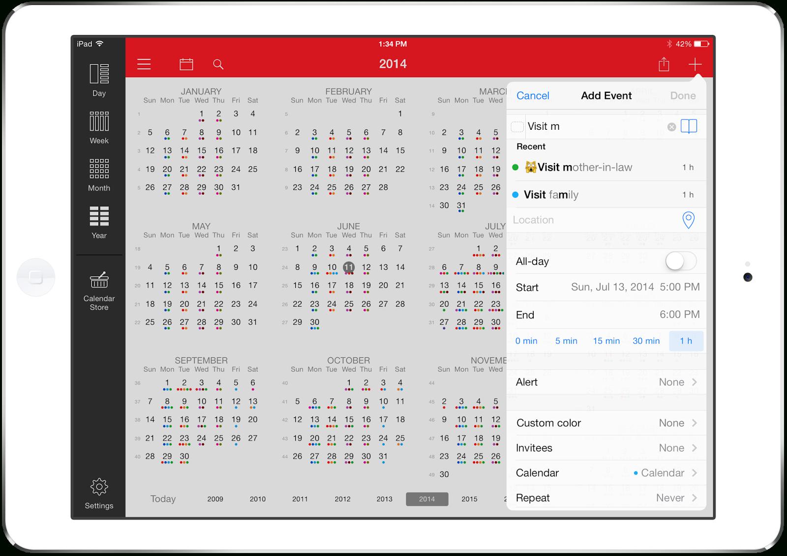Week Calendar: New Release: Week Calendar For Ipad 7.0