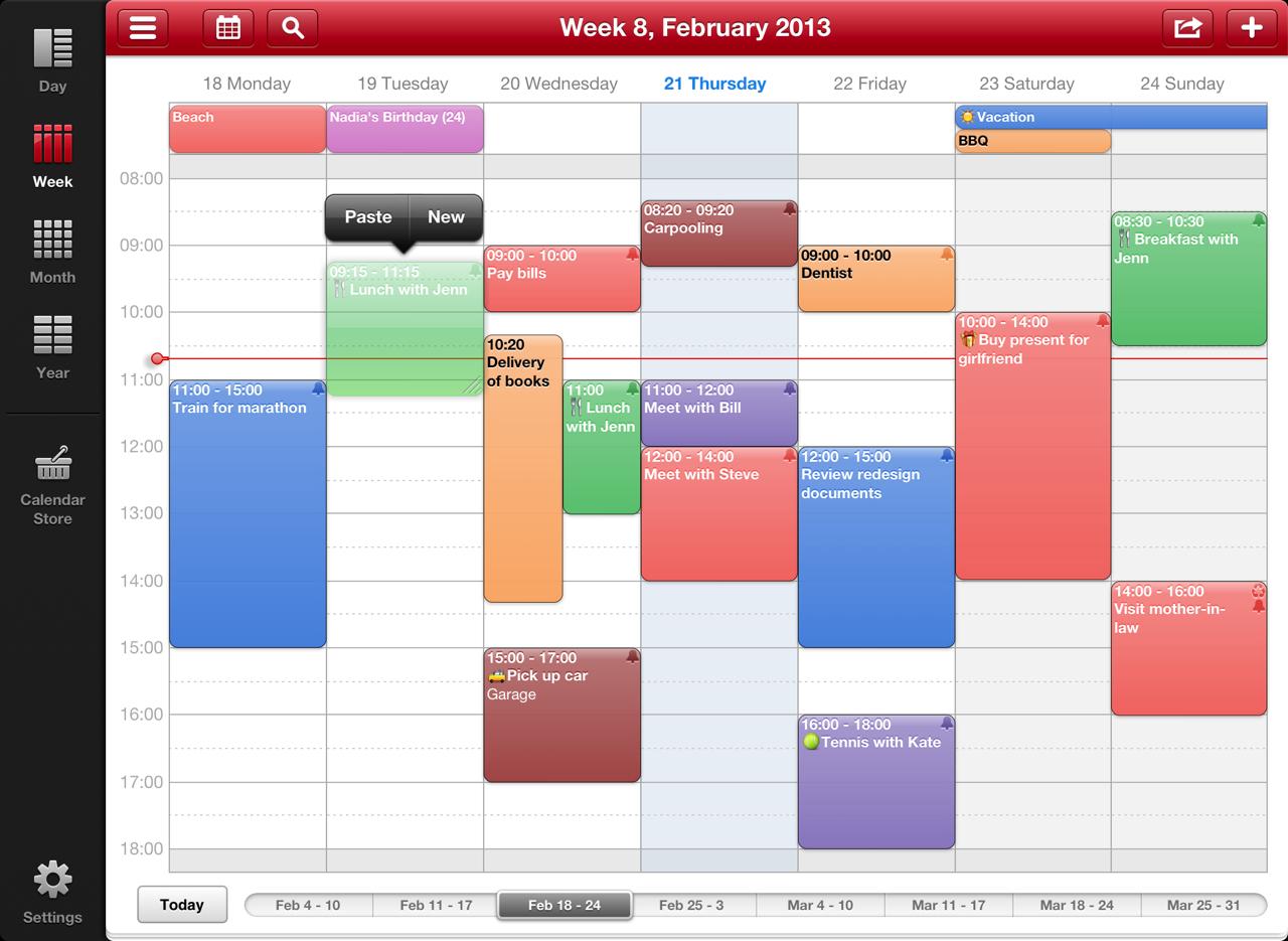 Week Calendar: Week Calendar Hd For Ipad Screenshots