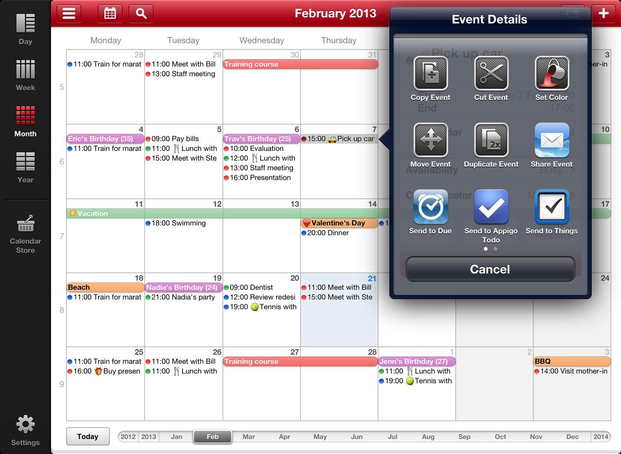 Week Calendar: Week Calendar Hd For Ipad