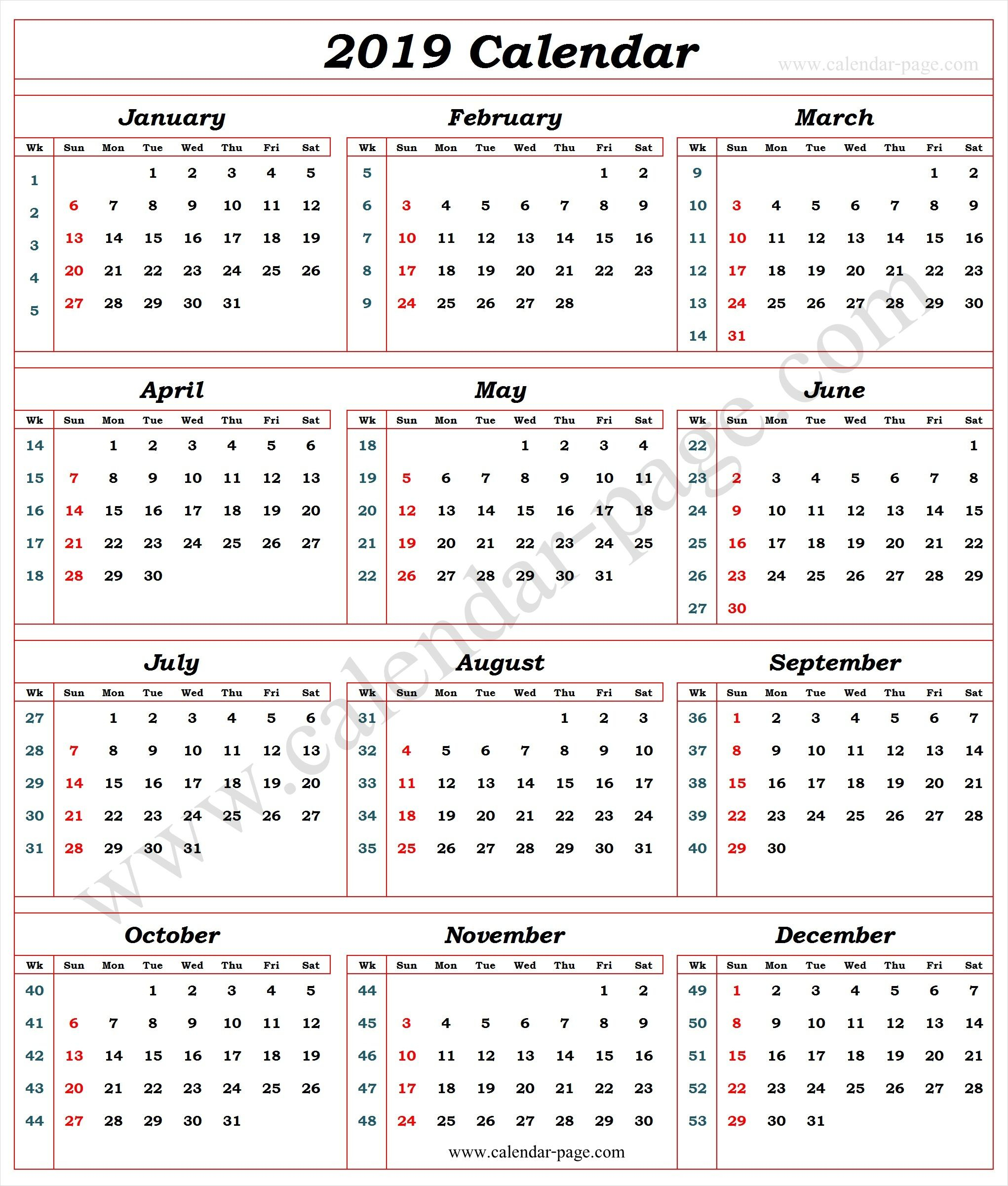 Week Number Calendar - Wpa.wpart.co