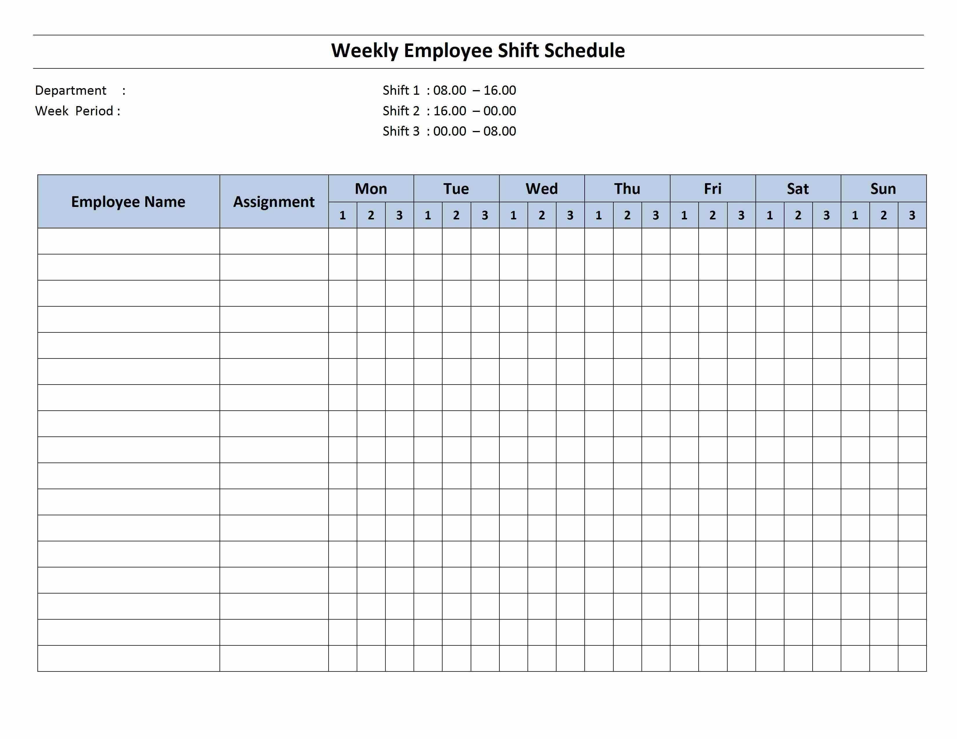 Work Schedule Calendar Template - Wpa.wpart.co