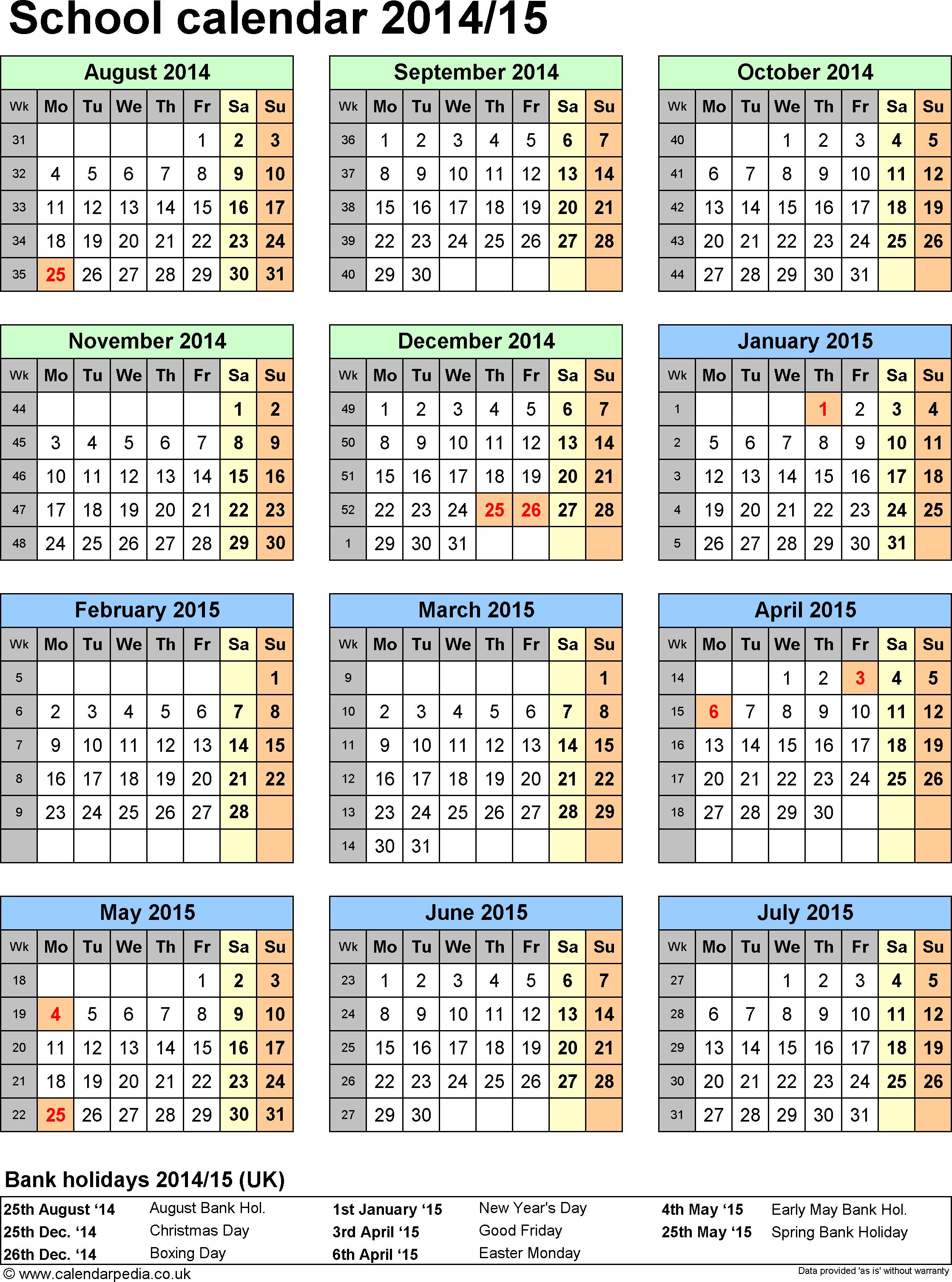 Year 1 Calendar - Wpa.wpart.co