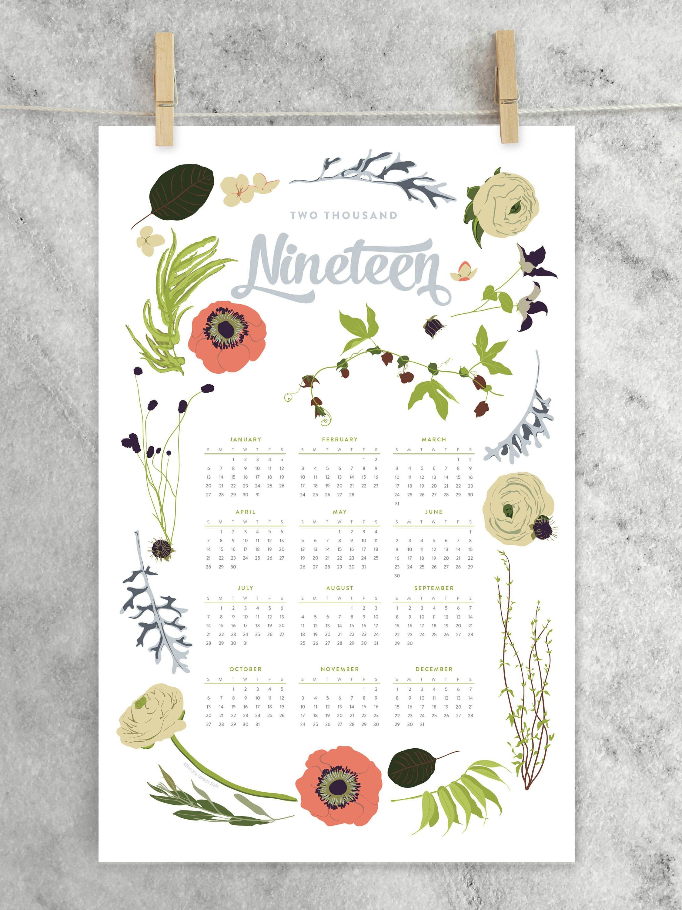 Year-At-A-Glance Calendar, Wildflower, 2020 | At A Glance