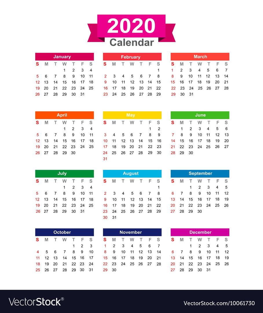 Year Calendar 2020 - Wpa.wpart.co