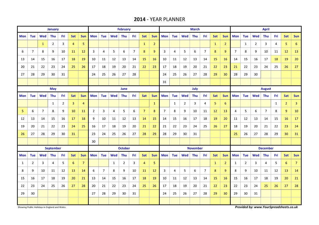 Year Planner Thailand