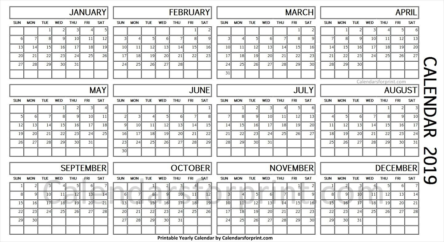 Year To A Page Calendar - Wpa.wpart.co