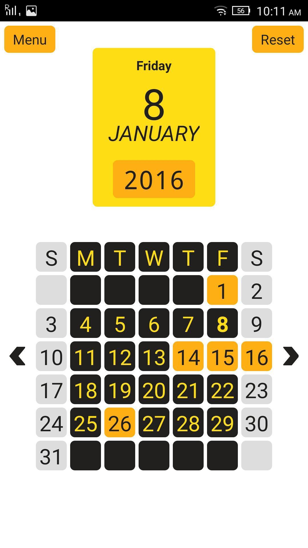 Year View - 12 Month Calendar Для Андроид - Скачать Apk