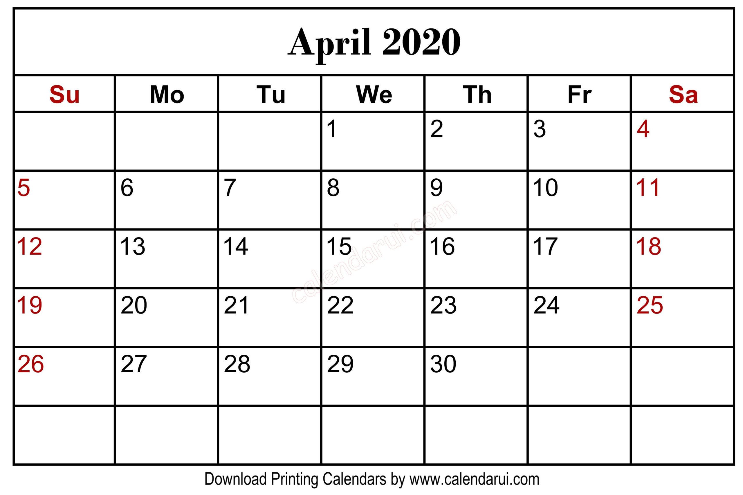 11 X 8.5 Calendar Pages 2020 Free | Calendar Template