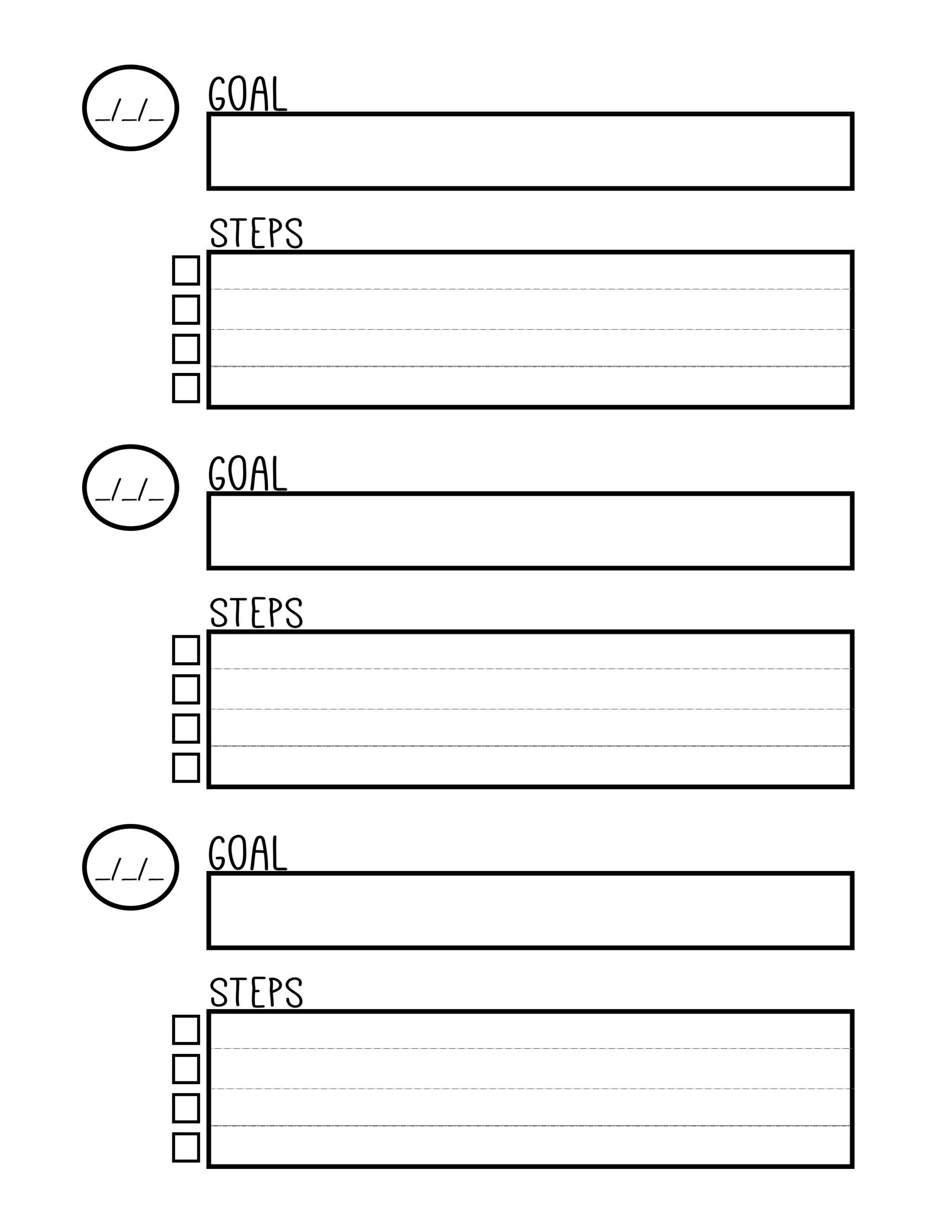 15 Best Images Of Life Goal Printable Worksheet