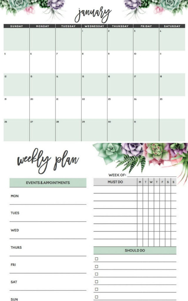 18 Stylish Free Printable 2020 Calendars & Planners - A