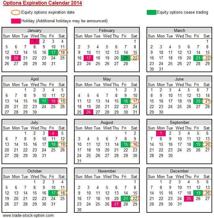 2017 Options Expiration Calendar – Calendar Template 2020