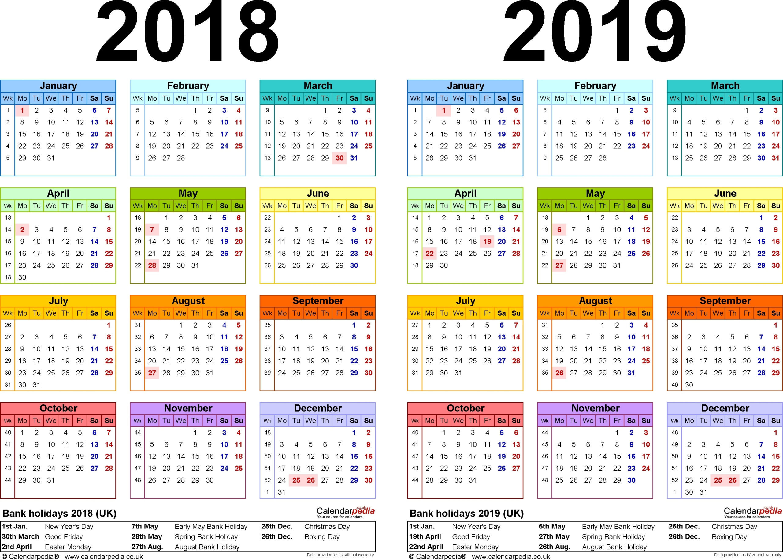2018 Canadian Calendar With Holidays Printable – Template