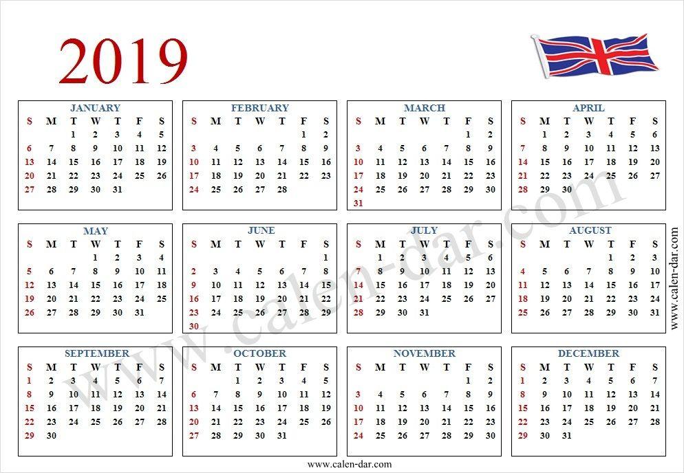 2019 Calendar With Week Numbers - Free Download Printable
