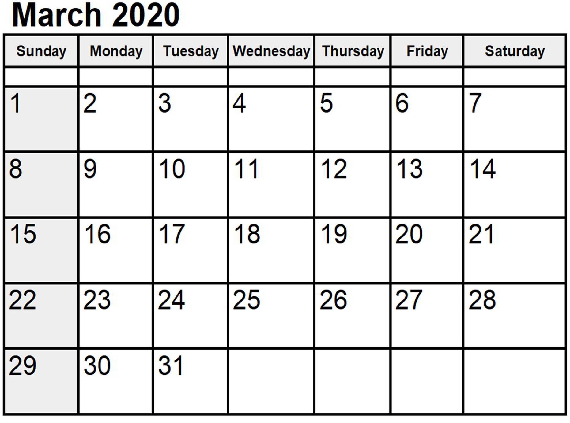 2020 Calendar Australia | Calendar Template Printable