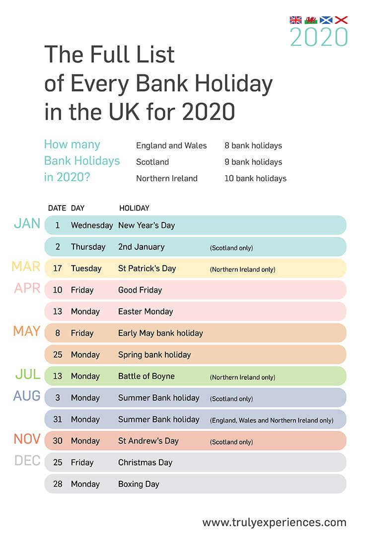2020 Calendar Bank Holidays | Free Printable Calendar