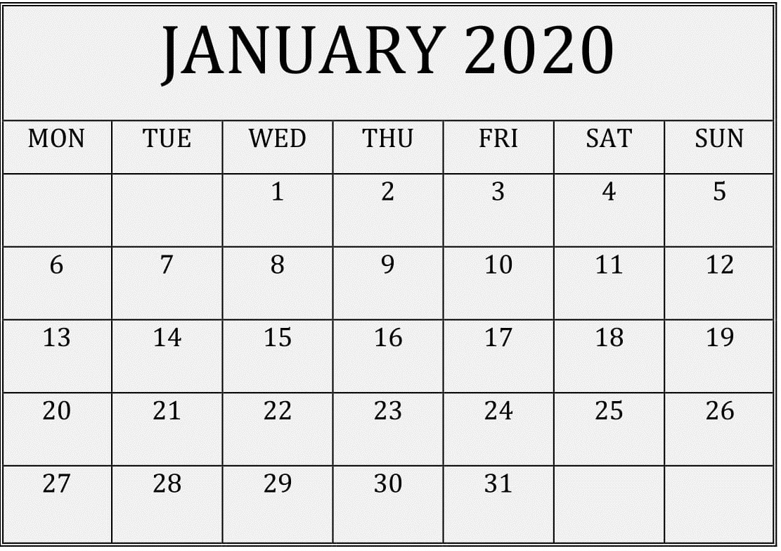 2020 Calendar You Can Edit | Calendar Printables Free