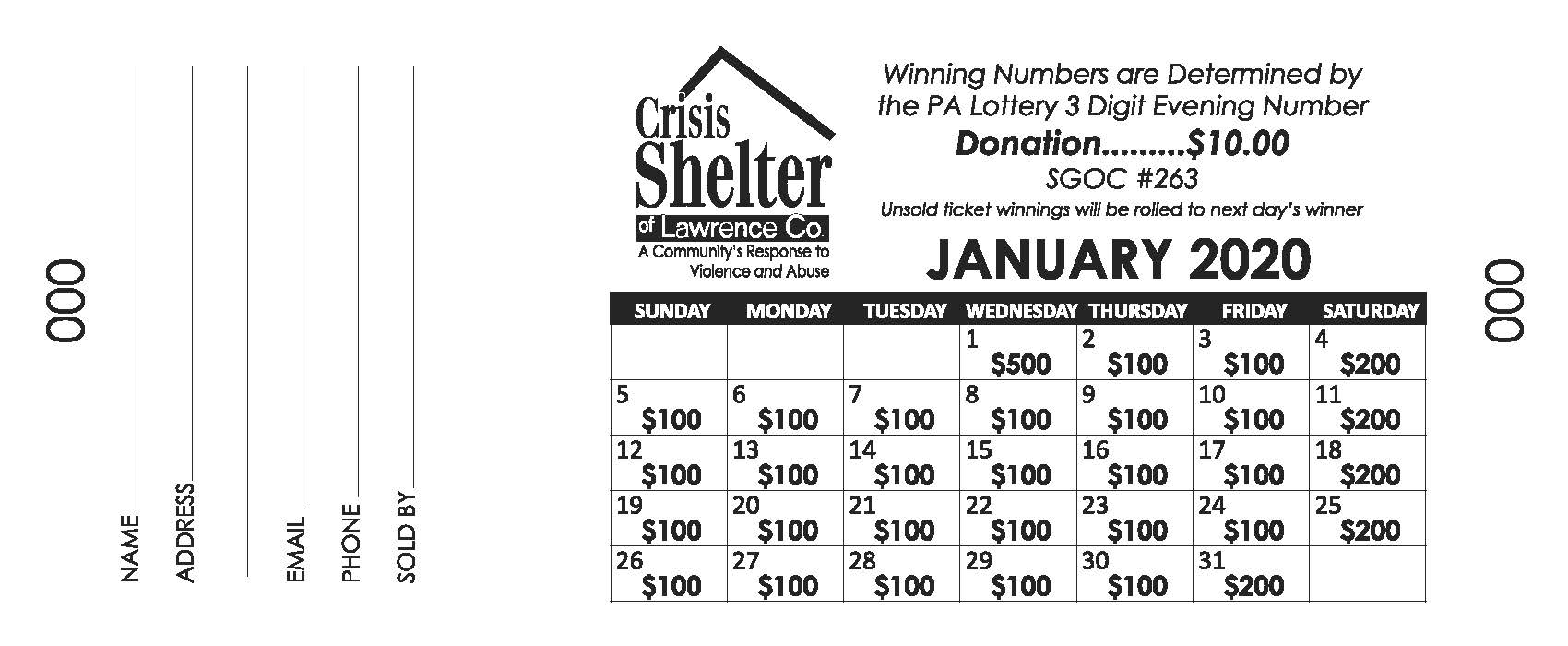 2020 Calendars On Sale! « Crisis Shelter Of Lawrence County