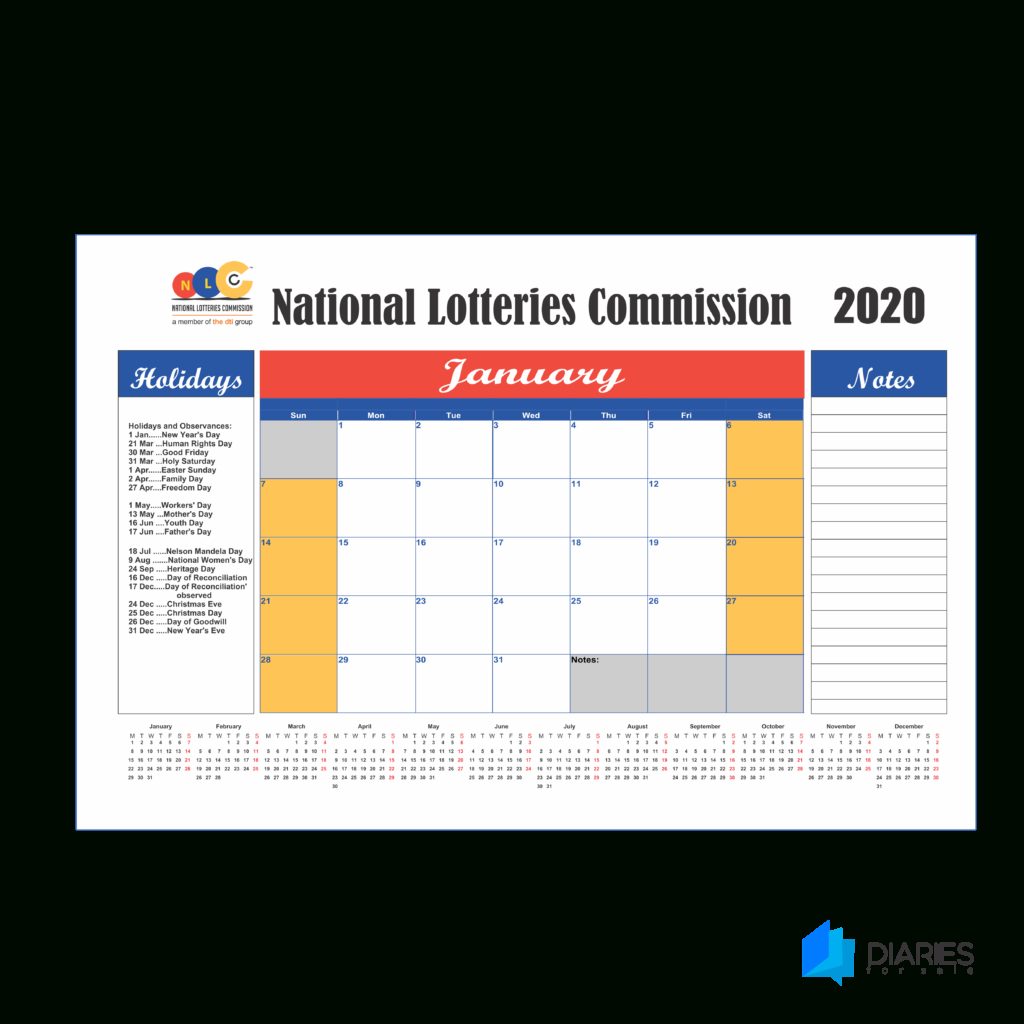 2020 Deskpad Calendar Printing From R149 - Calendars