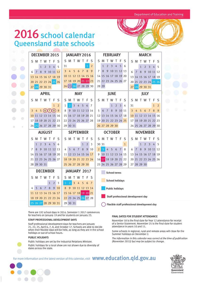 2020 School Calendar Qld | Calendar Template Printable