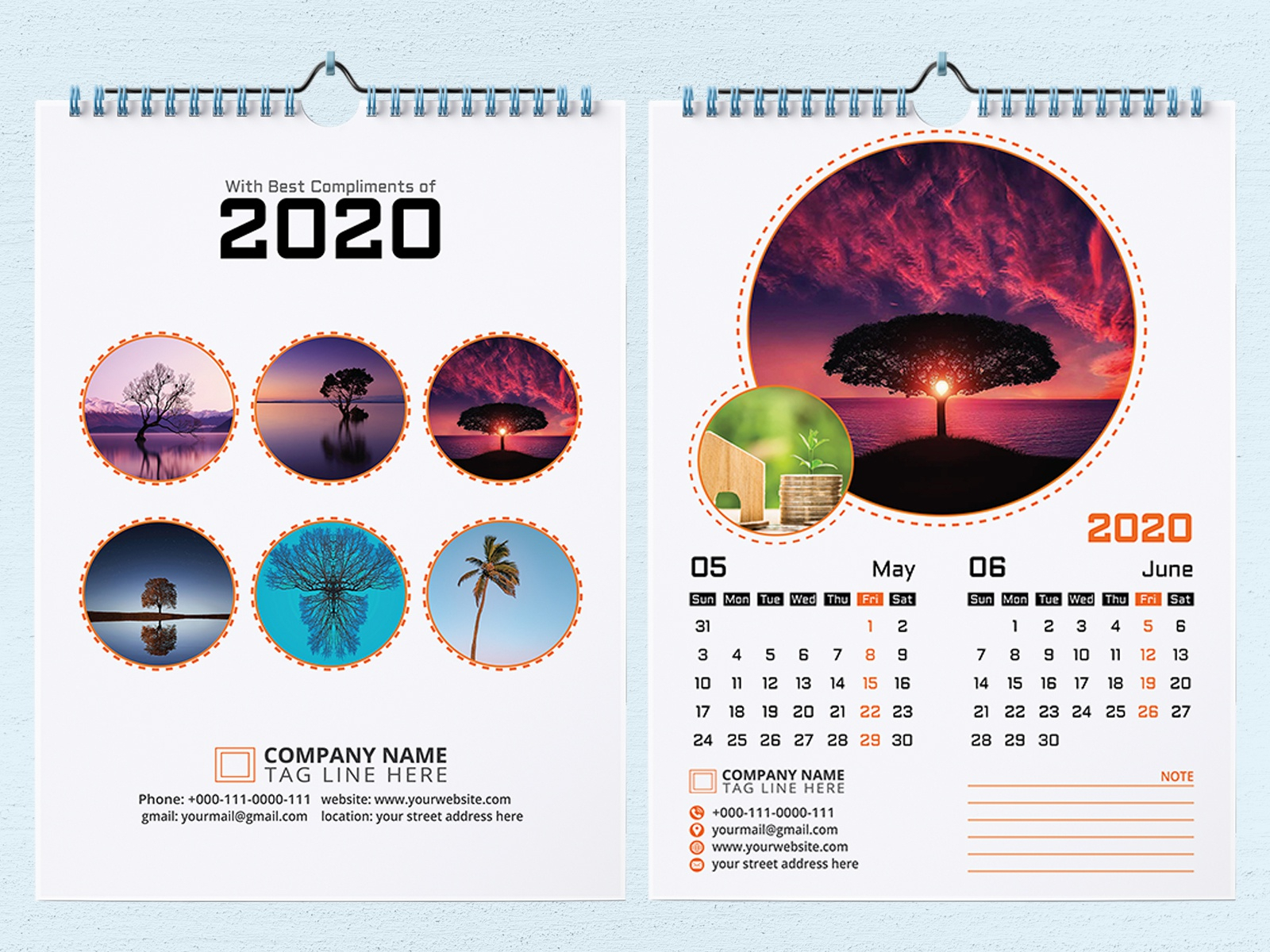 2020 Wall Calendar Designcreative Empire On Dribbble