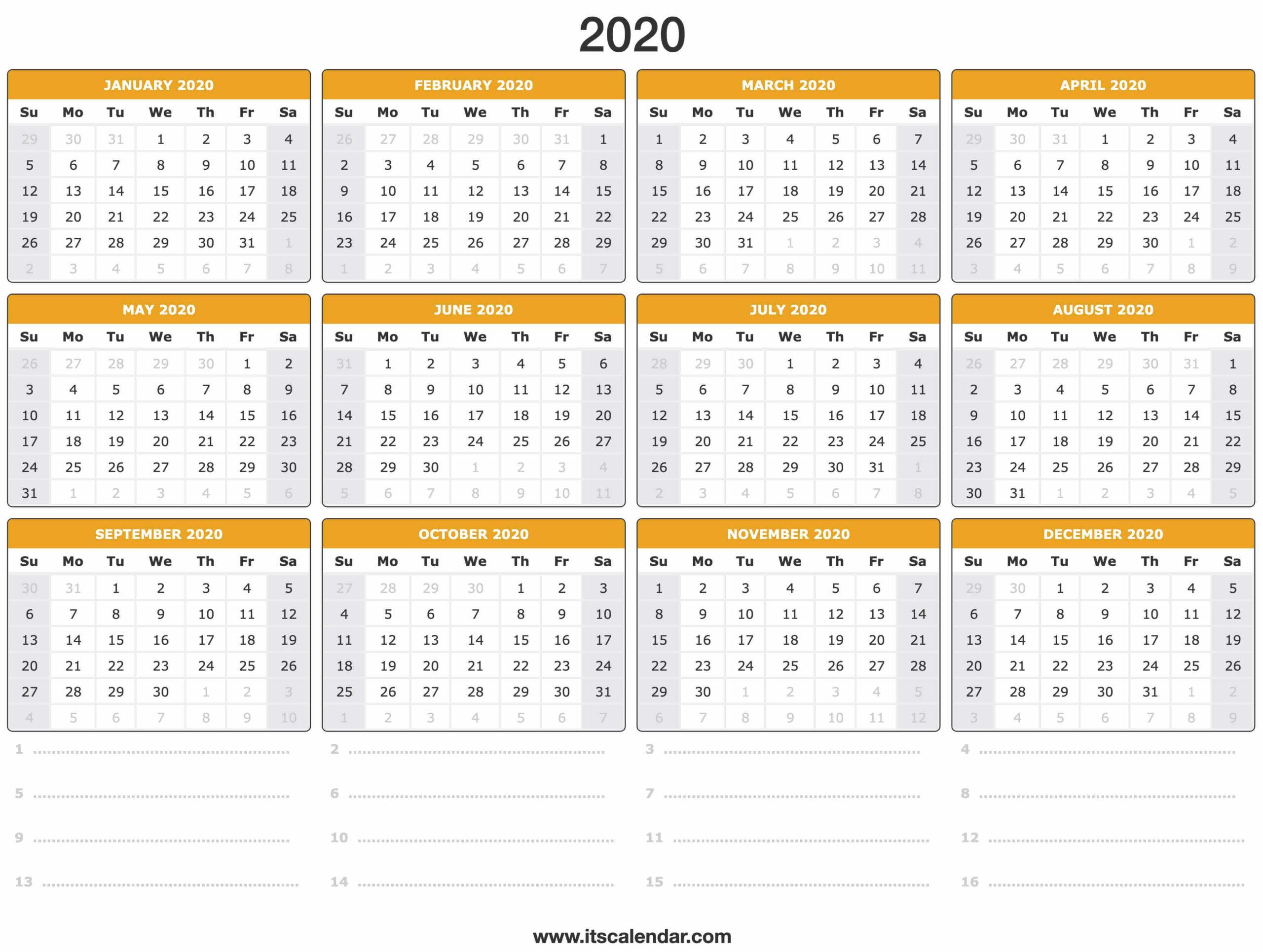 [2020年の最高] 2020 Calendar - Noorjp