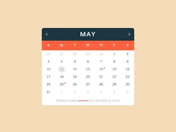 26+ Html Calendar Templates - Html, Psd, Css   Free