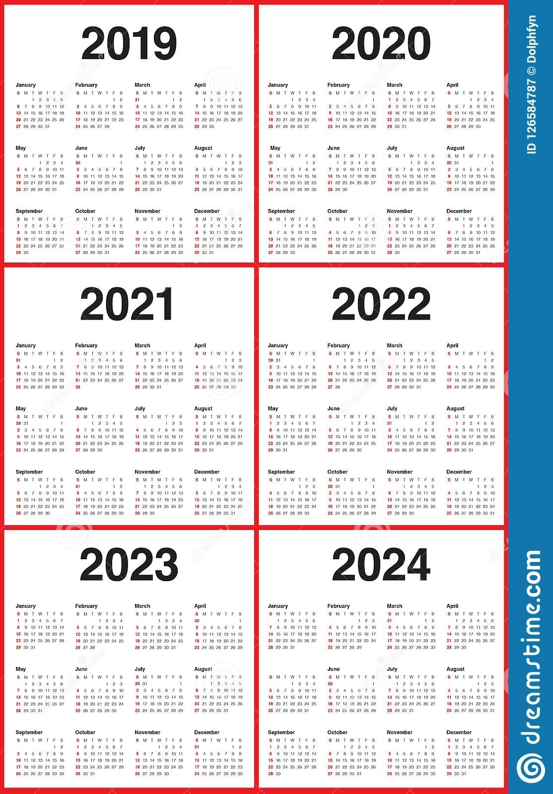 3 Year Calendar 2021 To 2023 | Month Calendar Printable