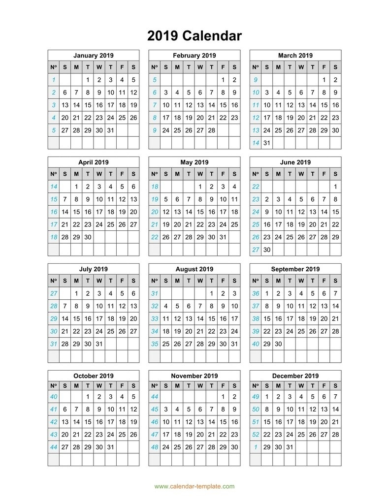 3 Year Calendar On One Page | Month Calendar Printable