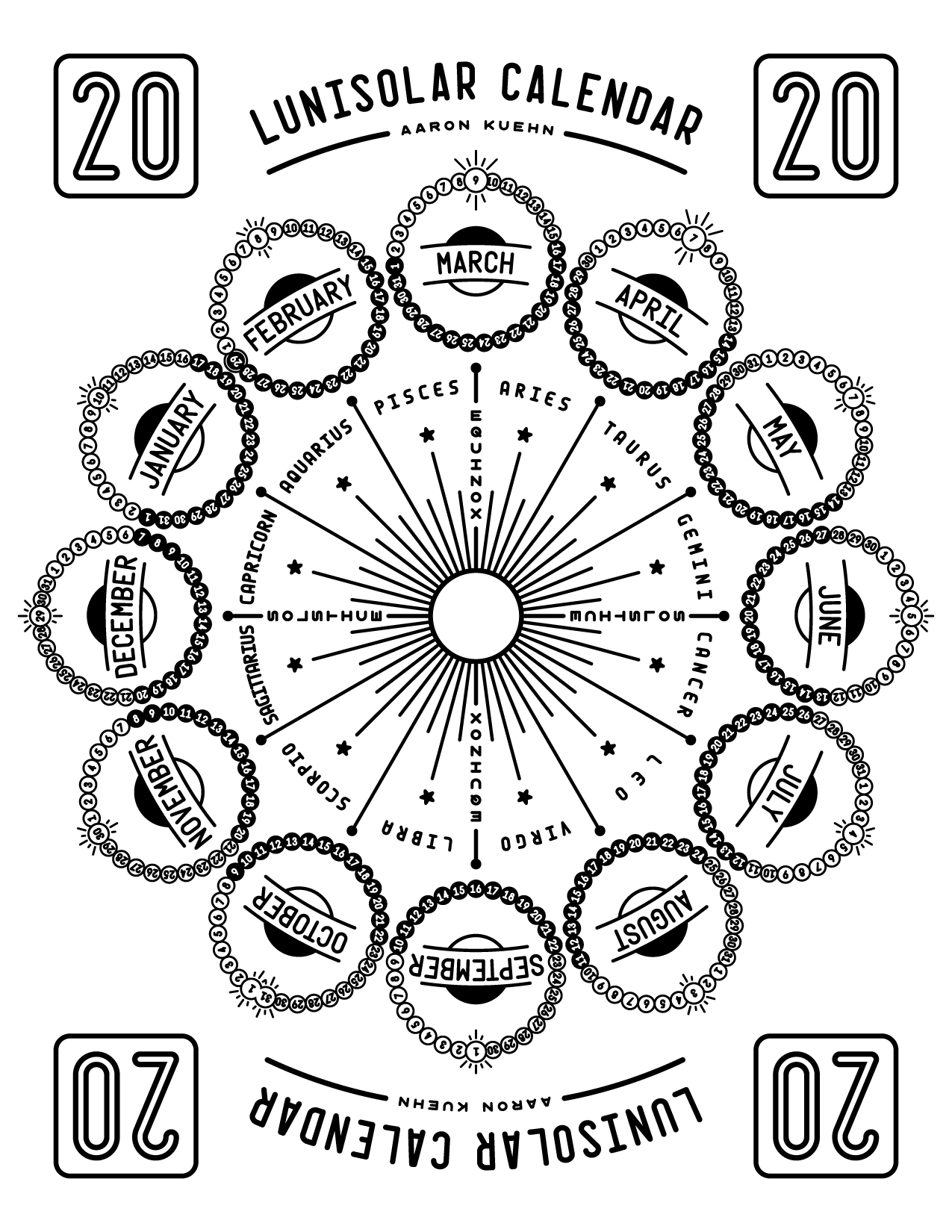 Aaron Kuehn | 2020 Lunisolar Calendar