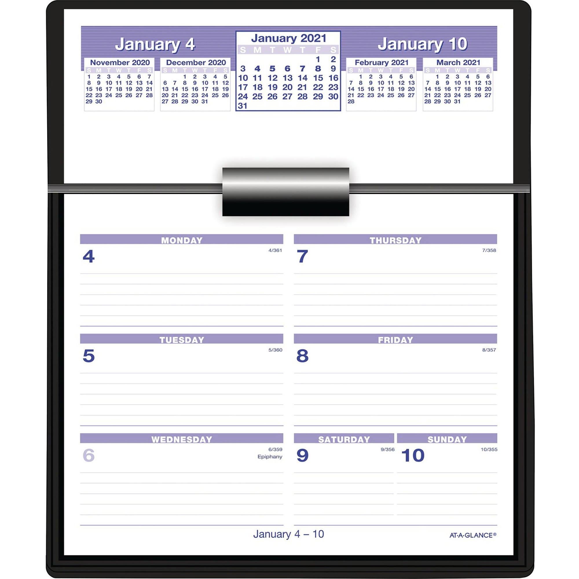 At-A-Glance Flip-A-Week Desk Calendar Refill - Yes