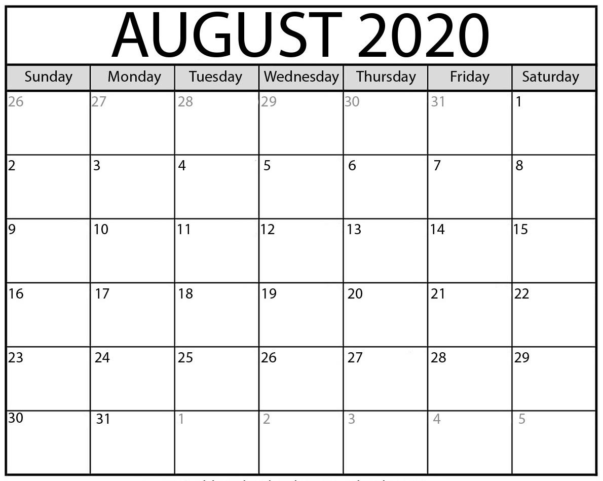 August 2020 Calendar Nz (New Zealand)   Free Printable