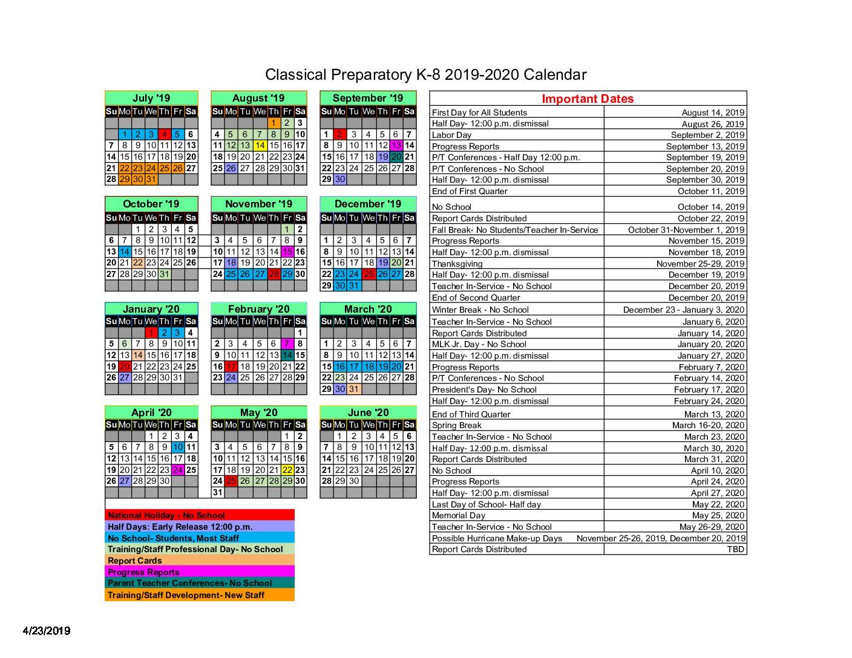 Berkeley 2019-2020 Academic Calendar Masters - Calendar
