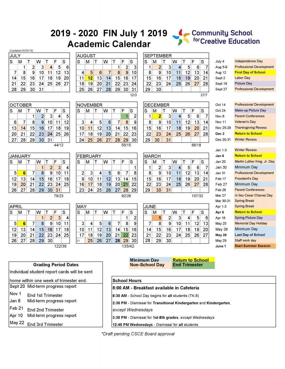 Berkeley Academic Calendar 2020 | Calendar For Planning