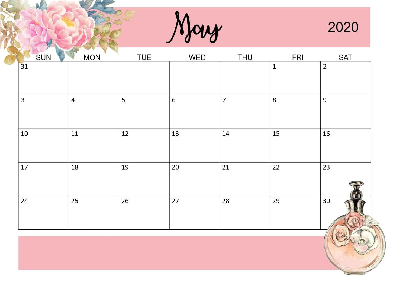 Best May 2020 Floral Calendar | Latest Calendar