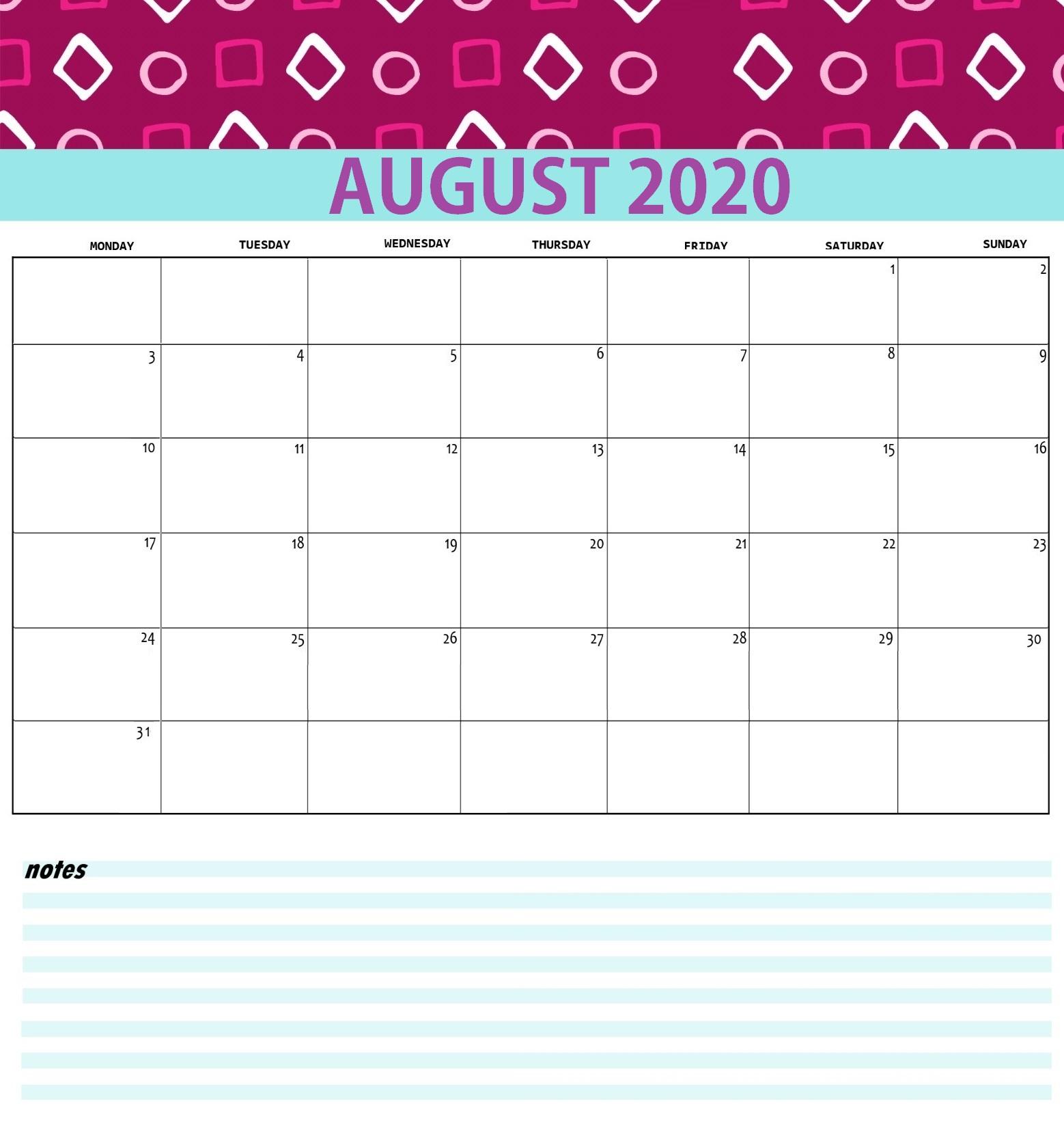 Best Monthly 2020 Calendar | Latest Calendar
