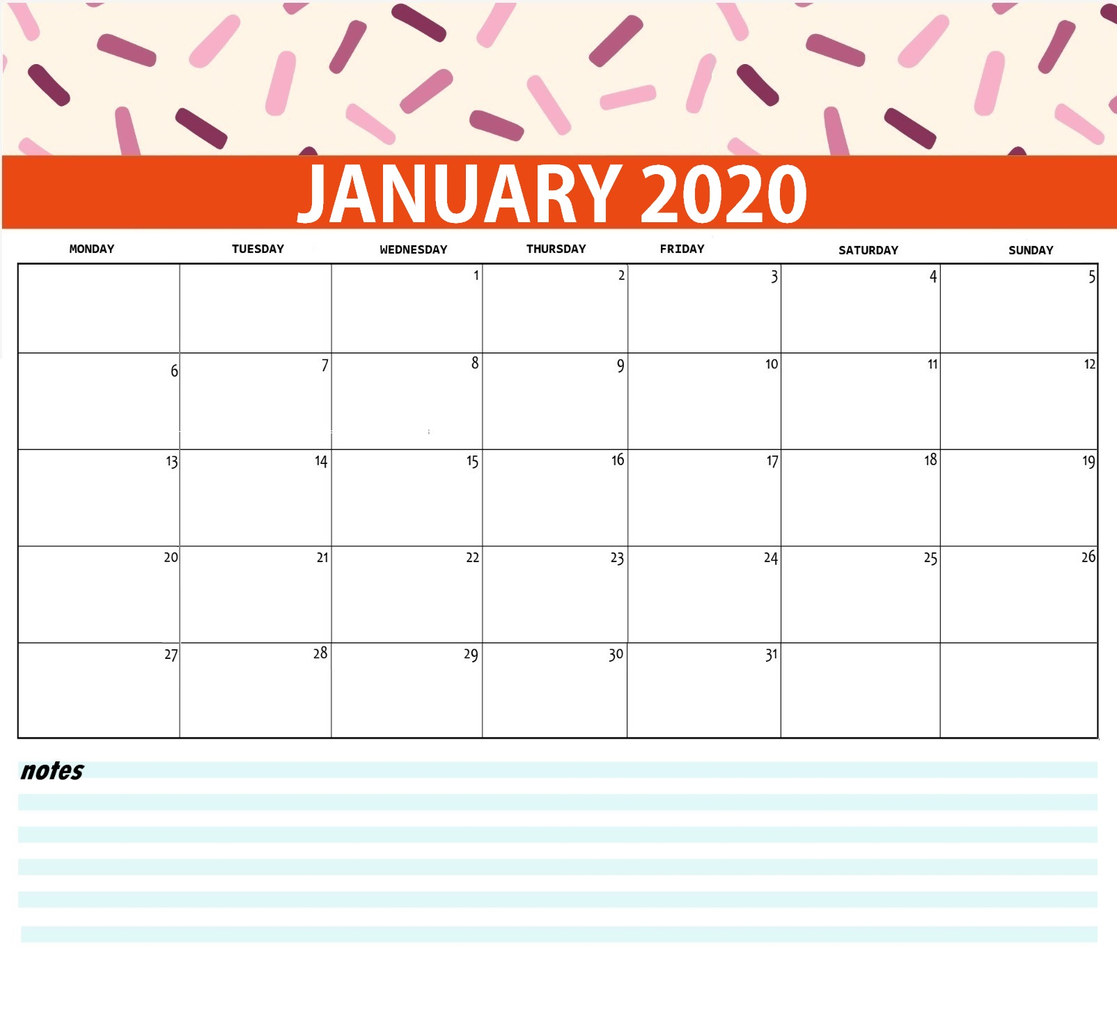 Best Monthly 2020 Calendar   Latest Calendar