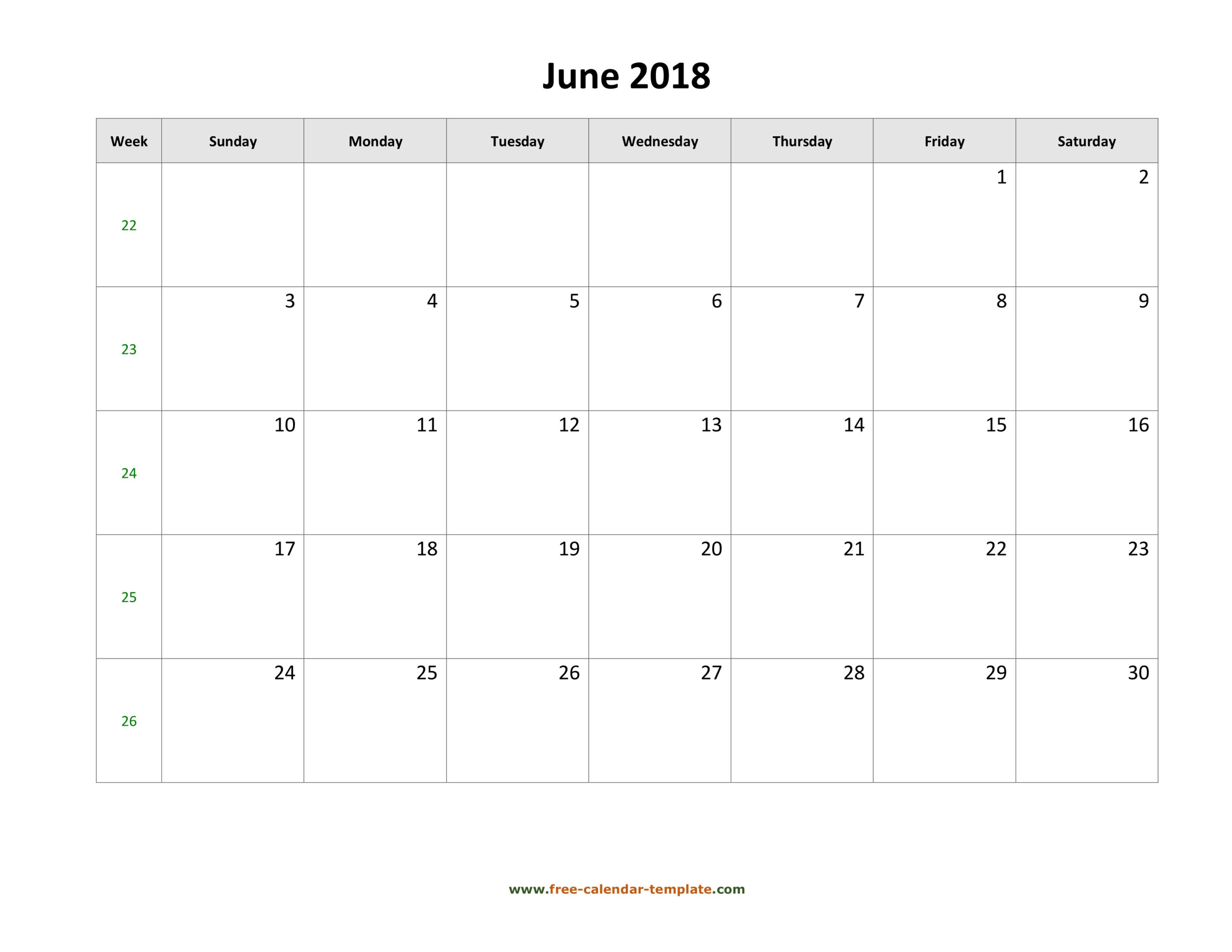 Blank Calandar With Big Squares | Example Calendar Printable