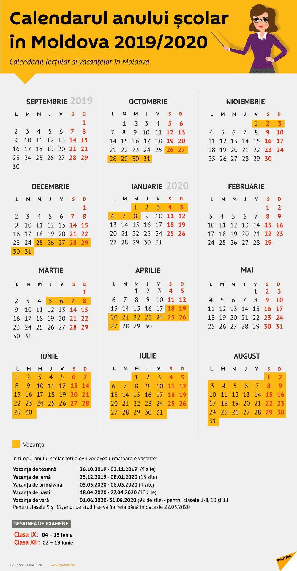Calendar 2020 Cu Zile Libere | Calendar Template Printable