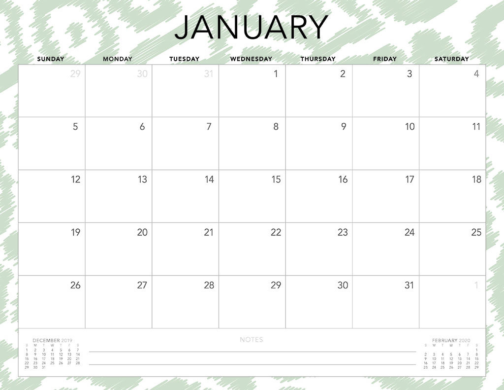 Calendar 2020 One Page Printable Images 229