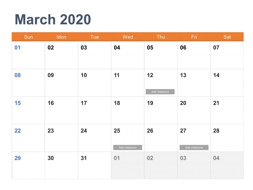 Calendar 2020 Powerpoint | Calendar Powerpoint Templates