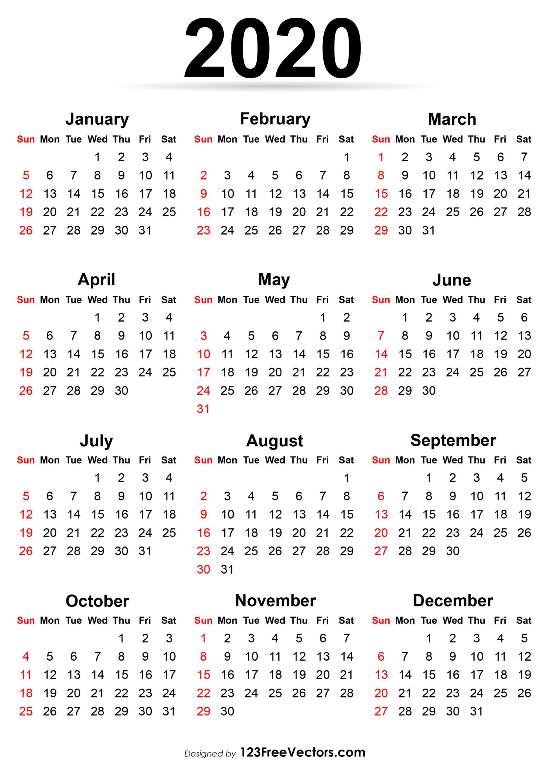 Calendar 2020 To Print | Calendar Printables Free Templates