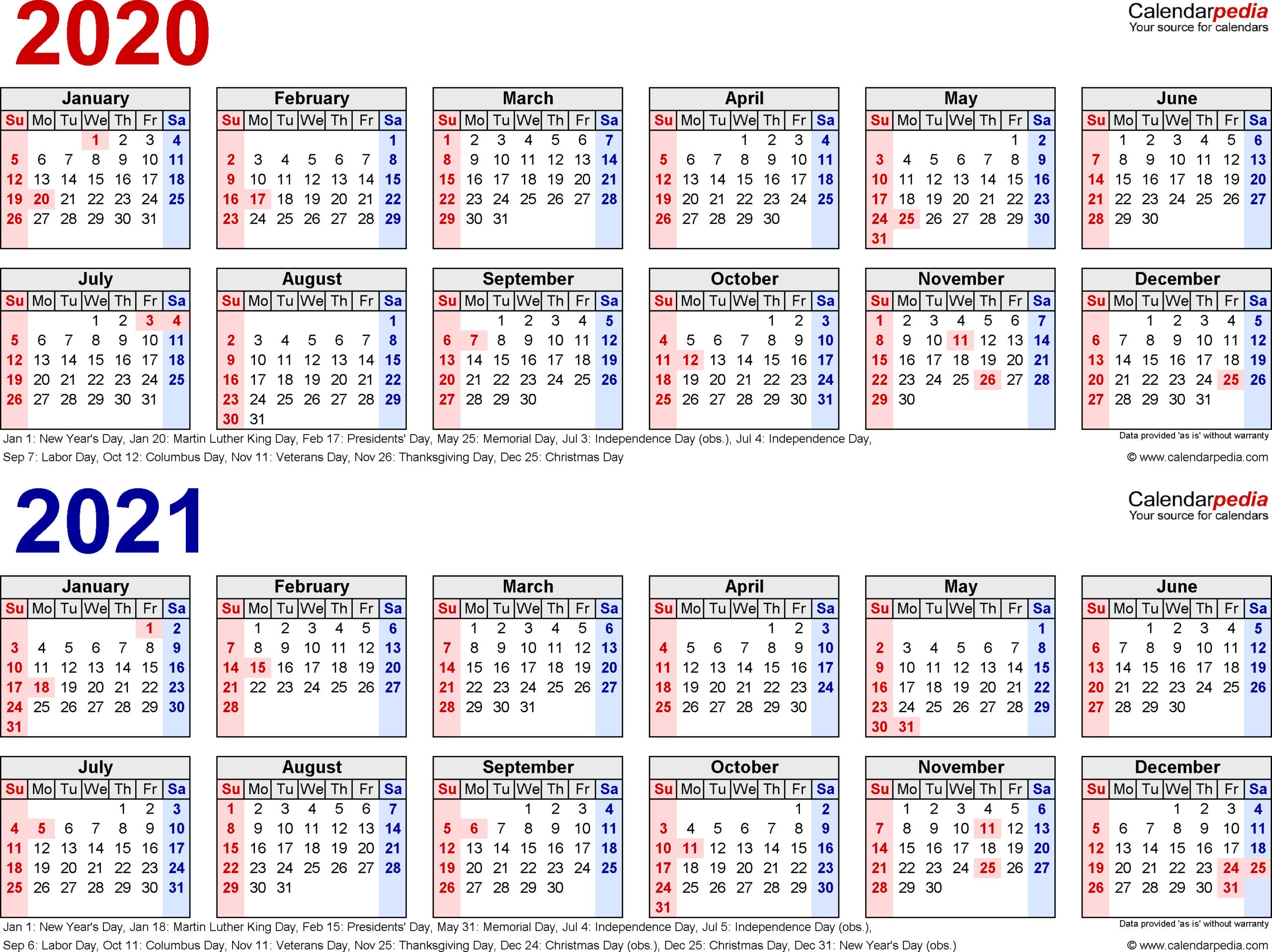 Calendar Labs 2020 Templates | Example Calendar Printable
