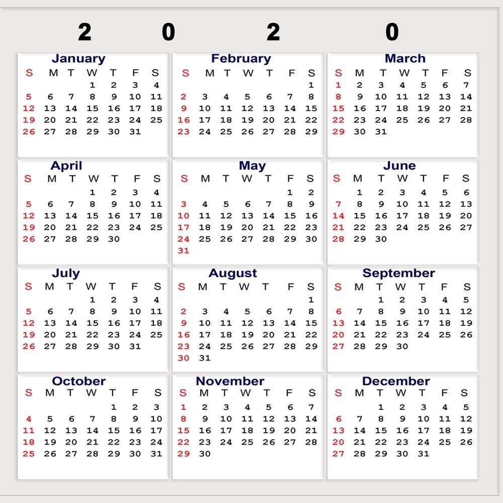 Calendar Week Numbers 2020 Printable | Month Calendar